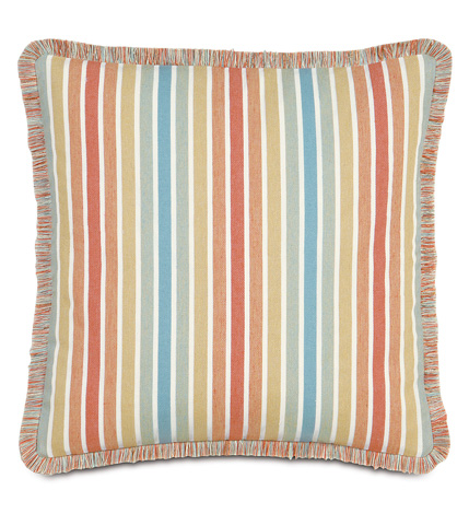 Image of Paradise Sunrise Pillow With Brush Fringe