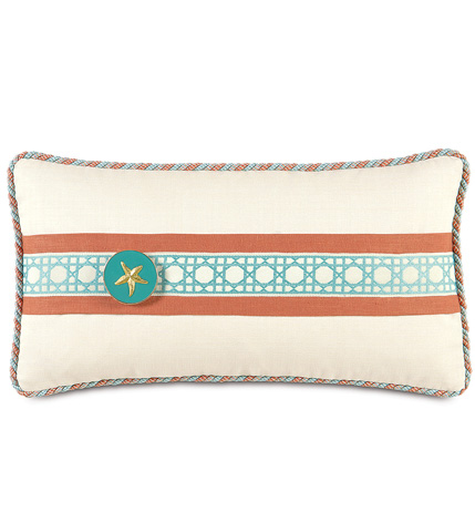 Image of Folly Parchment Pillow With Border