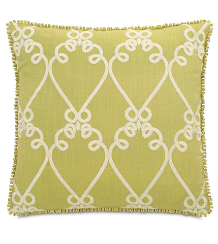 Image of Etta Lime Pillow with Loop Gimp