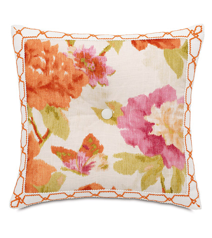 Image of Caroline Azalea Tufted Pillow