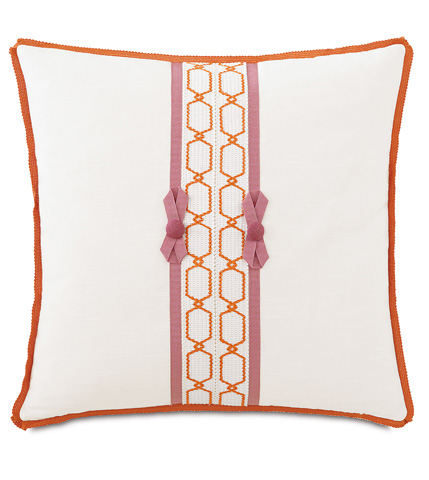 Image of Witcoff Ivory Pillow with Bows