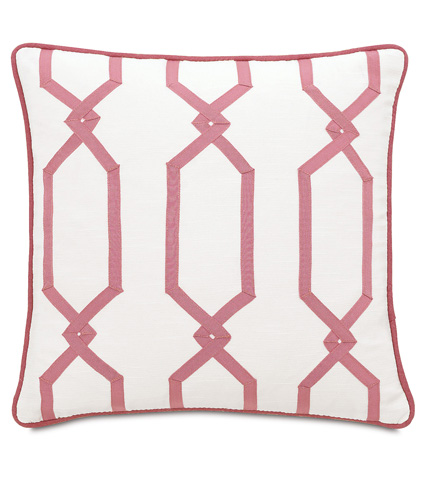 Image of Witcoff Ivory Pillow with Ribbon Design