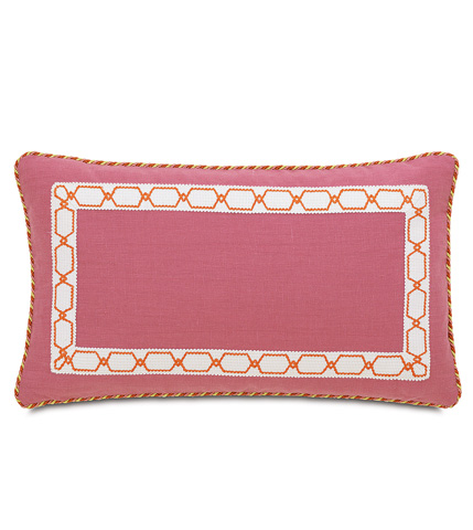 Eastern Accents - Breeze Bloom Pillow with Border - CAR-12