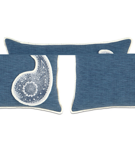 Image of Garrison Storm Pillow with Paisley Insert