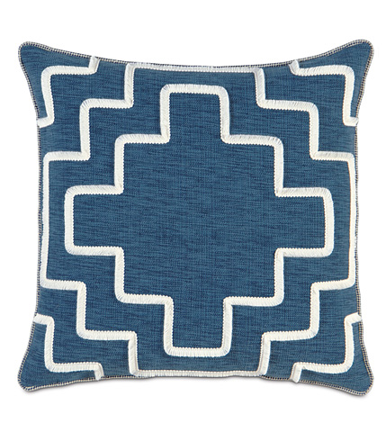 Image of Garrison Storm Pillow with Brush Fringe