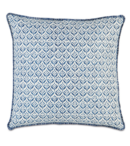 Image of Kari Iris Pillow with Brush Fringe
