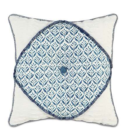 Image of Kari Iris Diamont Tufted Pillow