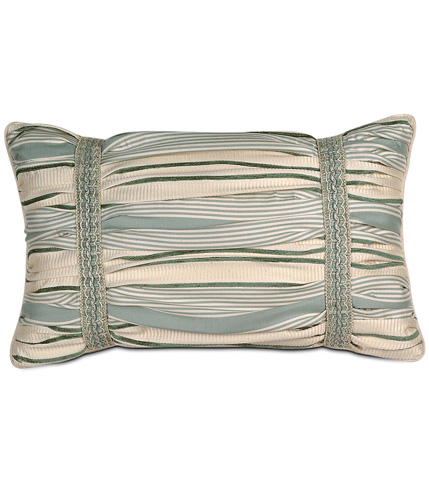 Eastern Accents - Luxembourgh Spa Ruched Pillow - CRL-04