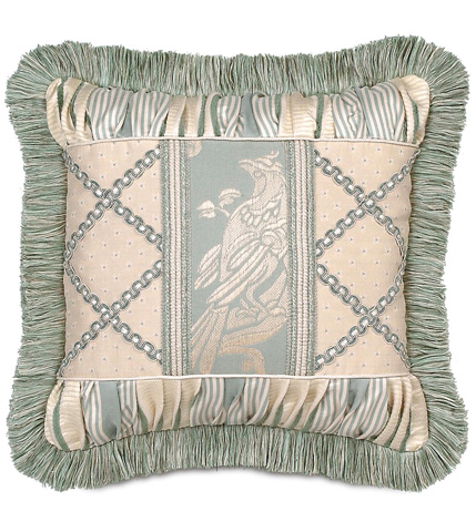 Image of Carlyle Collage Pillow with Brush Fringe