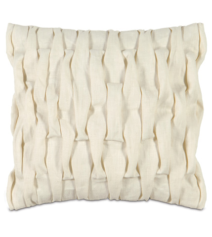 Image of Breeze Pearl Pillow with Pleats