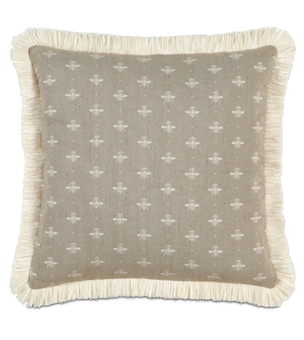 Image of Daphne Pillow with Brush Fringe