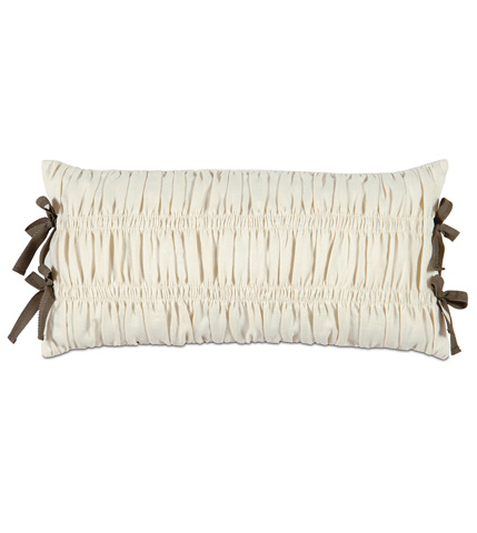 Image of Breeze Pearl Pillow with Ribbon Ties