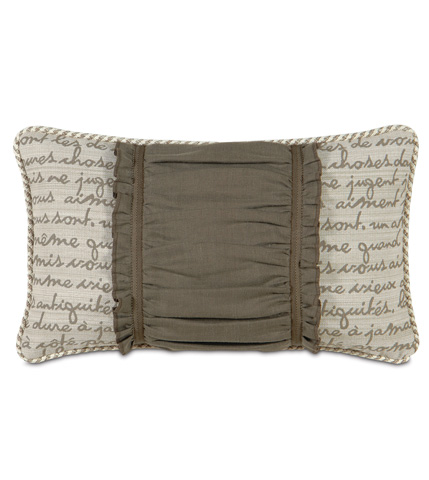 Image of Breeze Clay Ruched Insert Pillow