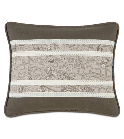 Image of Trompe Mocha Insert Pillow