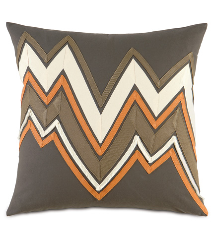 Image of Fullerton Espresso Pillow with Trims