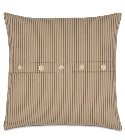 Eastern Accents - Heirloom Tobacco Knife Edge Pillow - DPA-244