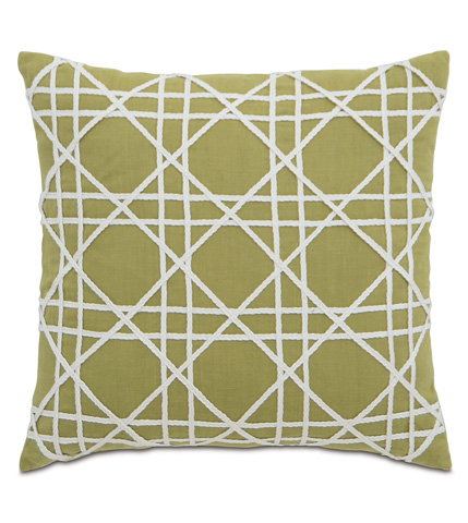 Image of Breeze Palm Pillow with Caning