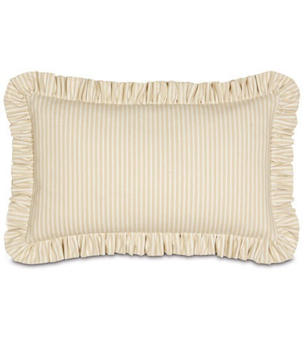 Image of Heirloom Vanilla Pillow with Ruffle