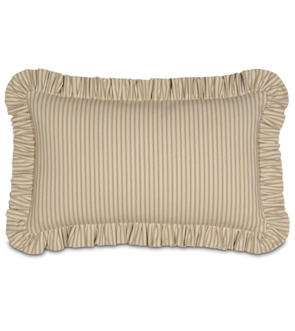 Eastern Accents - Heirloom Celery Pillow with Ruffle - DPB-243