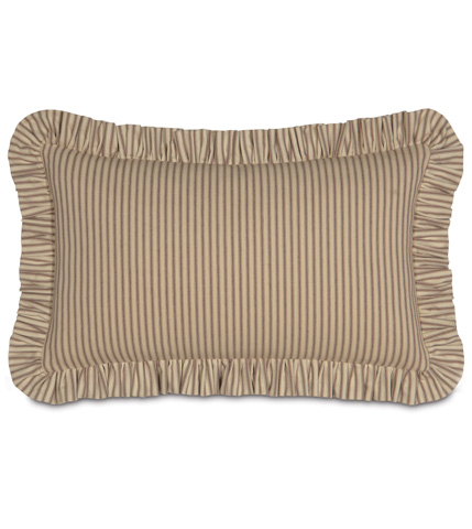 Image of Heirloom Tobacco Pillow with Ruffle