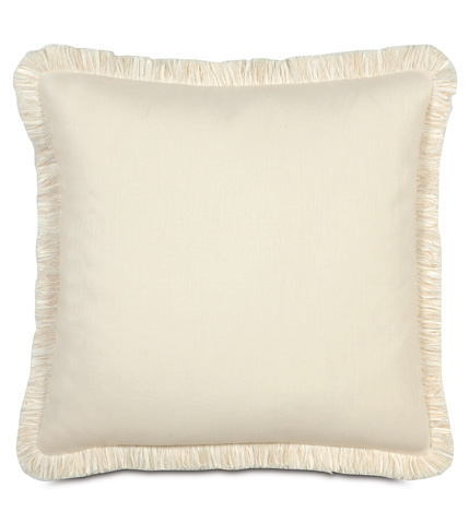 Image of Breeze Pearl Pillow with Brush Fringe