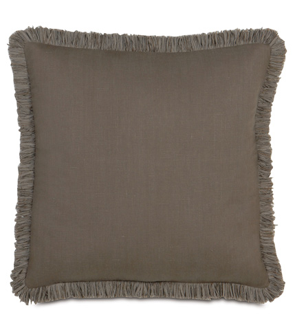 Image of Breeze Clay Pillow with Brush Fringe