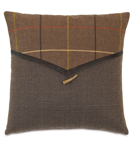 Eastern Accents - Donoghue Brown Envelope Pillow - DPB-361-C