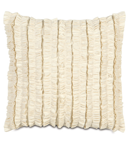 Image of Breeze Pearl Pillow with Ruffles