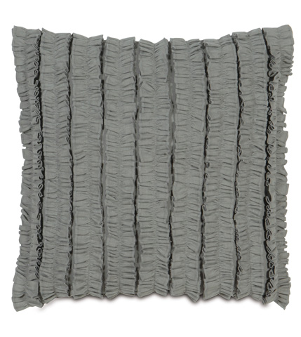 Image of Breeze Slate Pillow with Ruffles