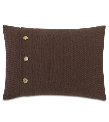 Image of Bozeman Brown Pillow with Buttons