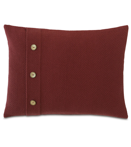 Image of Bozeman Russet Pillow with Buttons