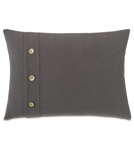 Image of Bozeman Charcoal Pillow with Buttons