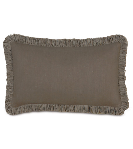 Eastern Accents - Breeze Clay Pillow with Brush Fringe - DPD-302