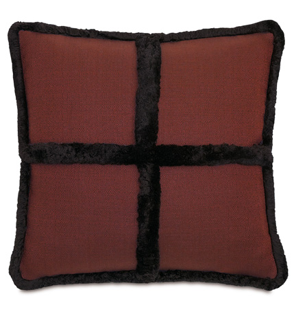 Image of Walden Berry Pillow with Brush Fringe