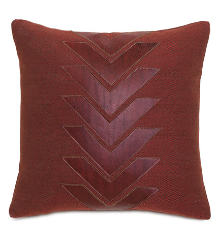 Image of Walden Berry Pillow with Graphic Applique