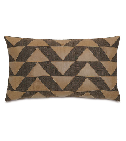 Image of Walden Bark Pillow with Graphic Applique