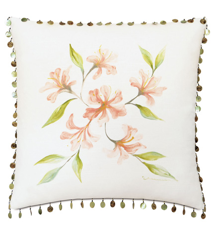 Image of Hand-Painted Lavinia Motif Pillow