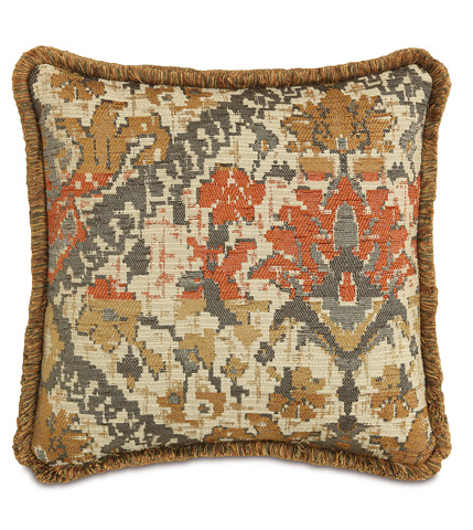 Eastern Accents - Douglas Camel Pillow with Brush Fringe - DPF-361-K