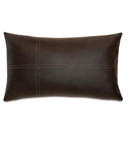 Image of Hoffman Walnut Pillow with Tailors Tack