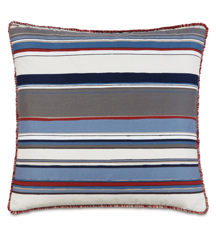 Eastern Accents - Quinlan Harbor Pillow with Mini Brush Fringe - EHA-03