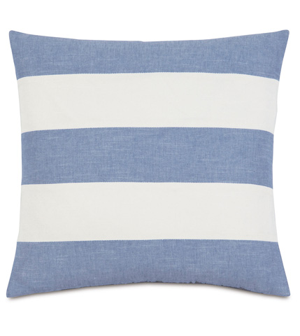 Image of Duvall Denim Stripes Pillow