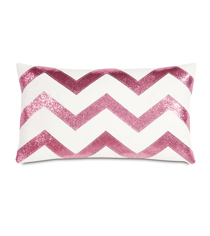 Image of Sparkle Pink Chevron Pillow