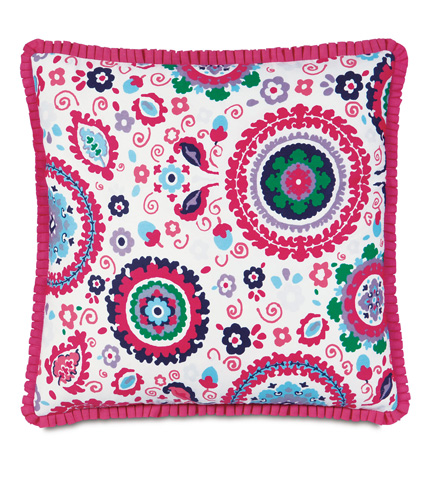 Eastern Accents - Kennedy Preppy Pillow with Pleated Ribbon - EPR-03