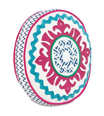 Image of Suzani Preppy Tambourine Pillow