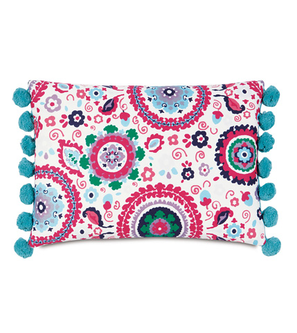 Image of Kennedy Preppy Pillow with Ball Trim