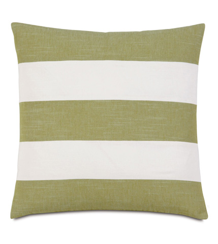 Image of Duvall Green Stripes Pillow