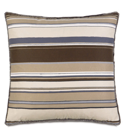Eastern Accents - Quinlan Stone Pillow with Mini Brush Fringe - ESO-03