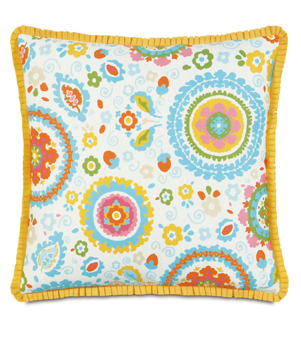 Image of Kennedy Splash Pillow with Pleated Ribbon