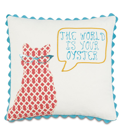 Image of The World Is Your Oyster Pillow