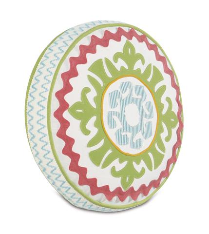 Eastern Accents - Suzani Splash Tambourine Pillow - ESP-05